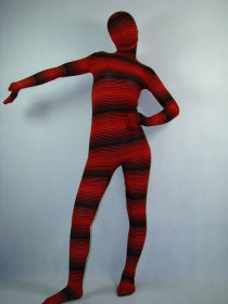 Red Camouflage Lycra Unisex Zentai Suit
