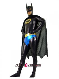 Shiny Metallic Batman Zentai Superhero Suit