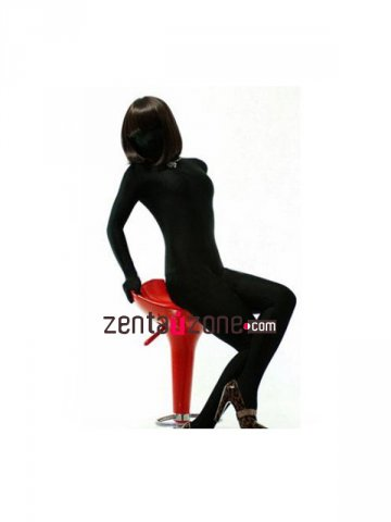 Black Modal Zentai Full Bodysuit