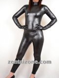2011 New Style Black Snake Pattern Shiny Zentai Catsuit