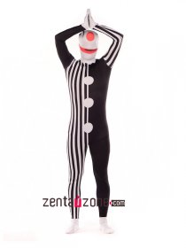Funny Clown Lycra Print Full Body Suit