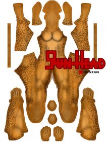 Custom Printed Cheetah Zentai Costume