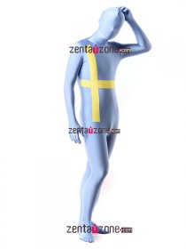 Spandex Lycra Full Body Sweden Flag Zentai Suit
