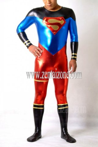 2012 New Shiny Metallic Superman Costume