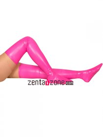 Pink Sexy PVC Stockings