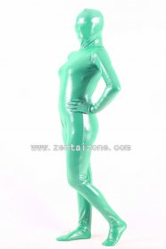 Green Spandex Shiny Metallic Zentai Suit