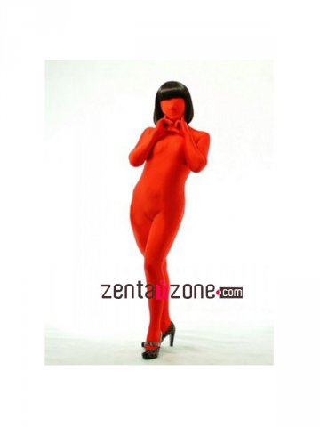 Red Modal Full Bodysuit Zentai Suit