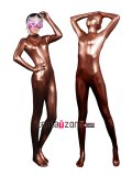 Sexy Coffee Shiny Zentai Catsuit