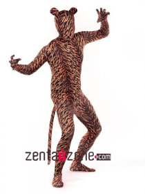 Tiger Pattern Spandex Full Body Zentai Suit