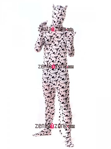 Cute Lycra Dog Zentai Full Body Suit With Ears And Tail