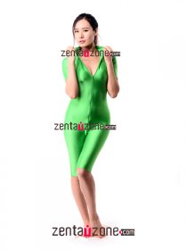 Green Lycra Unitard Zentai Sport Wear