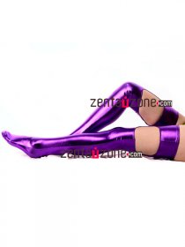 Purple Shiny Metallic Stockings