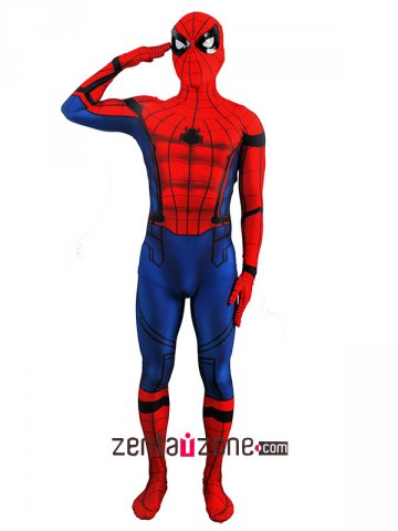 Lycra Civil War Spiderman Zentai Costume(Version2) [30445]