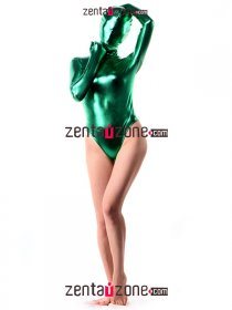 Green Shiny Metallic Leotard