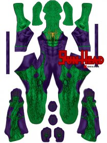 Custom Printed Spider-Joker Zentai Costume