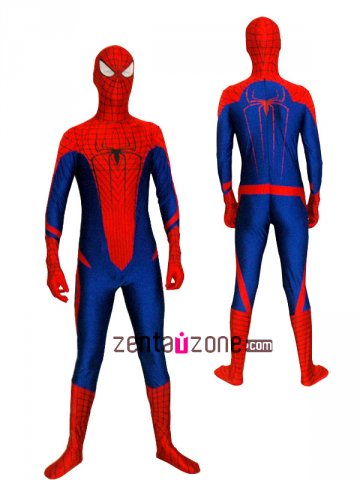 Newest Spandex Lycra Amazing Spiderman Costume Zentai Suit