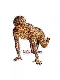 Leopard Pattern Spandex Full Body Zentai Suit