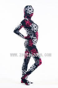 New Style Flower Pattern Spandex Lycra Full Bodysuit Zentai