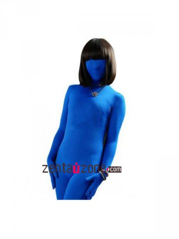 Blue Modal Zentai Full Body Catsuit