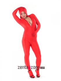 Sexy Lycra Spandex Zentai Catsuit With Front Zipper