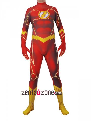 Lycra The Flash Authentic Zentai Costume [30478]