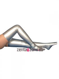 Silver Sexy Shiny Metallic Stockings
