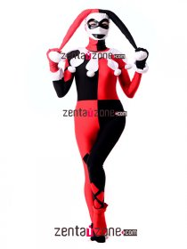 Authentic Harley Quinn Spandex Lycra Zentai Hero Costume