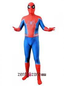 Custom Printed Civil War Amazing Spiderman Lycra Costume