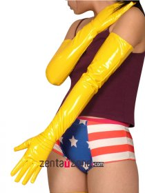 Yellow Long PVC Gloves