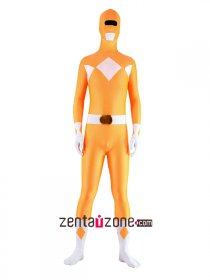 Orange Spandex Power Ranger Zentai Costume