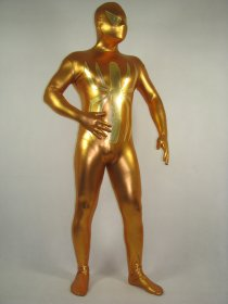 Golden Spiderman Shiny Metallic Zentai Suit