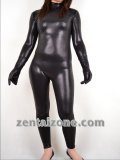 2011 Black Snake Pattern Shiny Zentai Catsuit