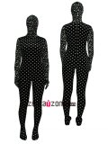 Spot Pattern Thicken Velvet Full Bodysuit Zentai