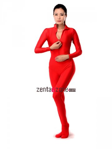 Red Spandex Lycra Unisex Catsuit