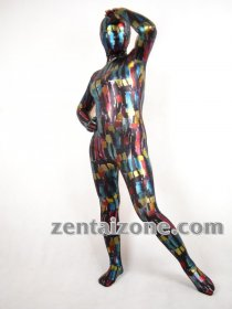 2011 Watercolor Shiny Fullbodysuit Zentai