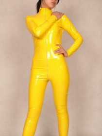 Yellow PVC Catsuit