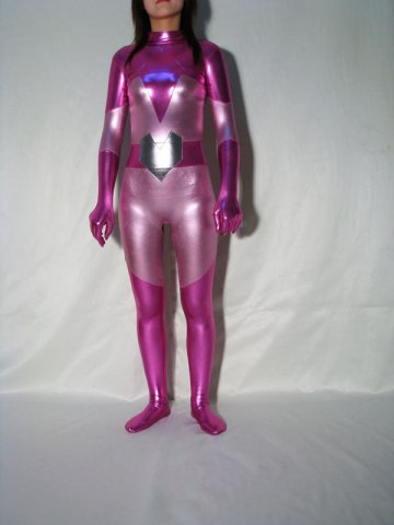 Multicolor Shiny Metallic Super Hero Catsuit