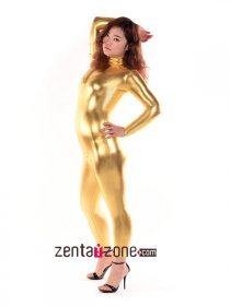 Golden Shiny Metallic Catsuit