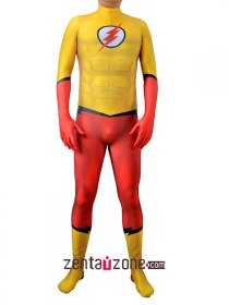 Custom Printed Kid The Flash Lycra Costume