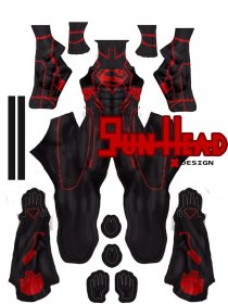 Custom Printed New 52 Superboy Zentai Costume