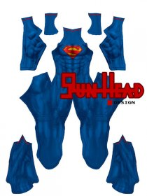 Custom Printed New 52 Superman Zentai Costume
