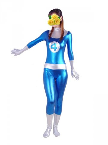 Blue And Silver Shiny Metallic Fantastic 4 Superhero Costume [20412] - $46.00  Buy zentai spandex  sc 1 st  Zentaizone & Blue And Silver Shiny Metallic Fantastic 4 Superhero Costume [20412 ...