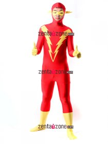Lycra Spandex The Flash Hero Zentai Costume