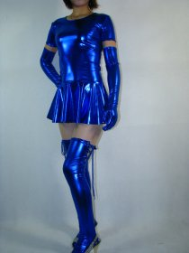 Sexy Blue Shiny Metallic Dress
