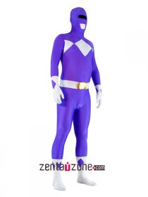 Purple Lycra Spandex Power Ranger Costume