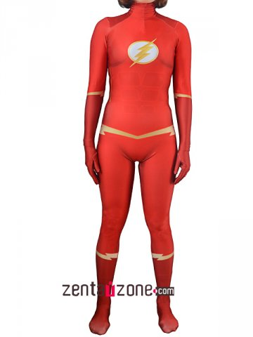 Custom Printed Female The Flash Lycra Zentai