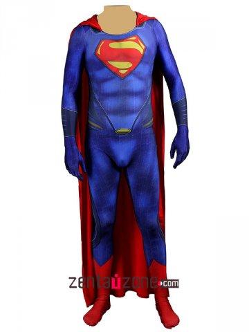 Printed Man Of Steel Superman Zentai Suit [30419] - $75.00  Buy zentai spandex  sc 1 st  Zentaizone & Printed Man Of Steel Superman Zentai Suit [30419] - $75.00 : Buy ...