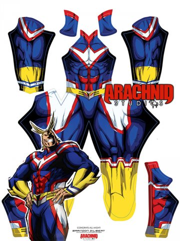 Custom Printed ALL MIGHT Zentai Costume