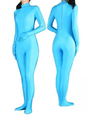 Light Blue Spandex Catsuit