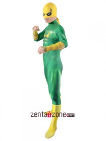 Green Iron Fist Lycra Zentai Costume